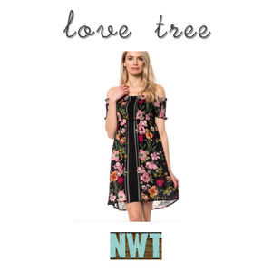 Love Tree Off Shoulder Floral Dress NWT
